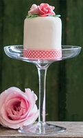 Taartlint roze/wit stipje