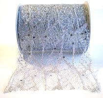 Web lint glinsterend zilver