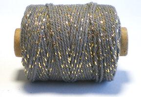 Cotton cord grijs/goud