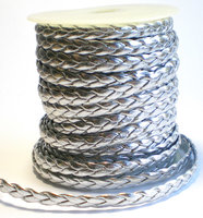 Leather twist zilver