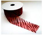 rood organza zebra lint