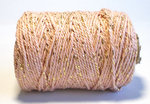 oud roze/goud cotton cord