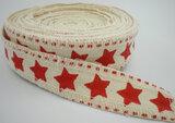 katoen band met rode sterren