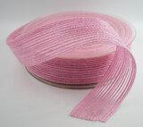 Jute decoratie lint roze