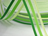 Gestreept lint groen,10mm