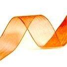 10 mm oranje organza lint