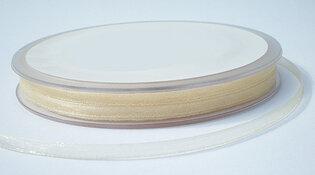 Organza lint 3mm|ivoor