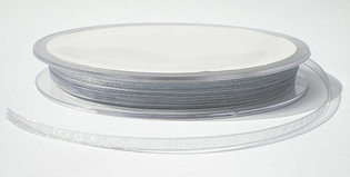 3 mm zilver organza lint