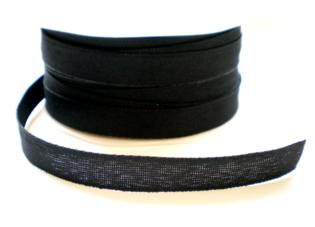 Zwart texture lint,12 mm