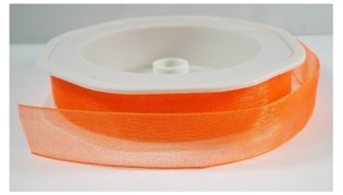 Neon oranje organza,15 mm