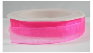Neon roze organza,15 mm