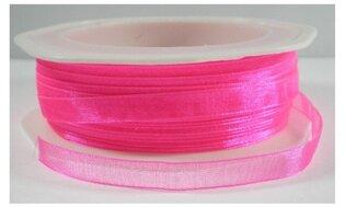 Neon roze organza, 7 mm