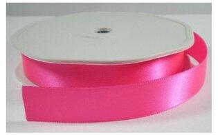 Neon roze satijnlint,25 mm