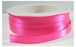 Neon roze satijnlint,9 mm