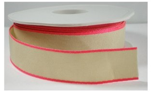 Neon edge lint roze,20mm