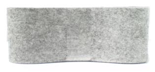 Vilt grijs 80 mm