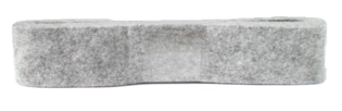 Vilt grijs 38 mm