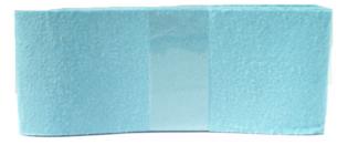 Vilt lichtblauw 80 mm