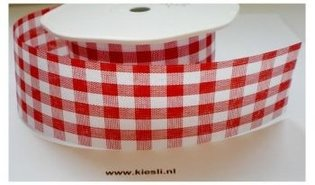 Rood Carreau lint 38mm