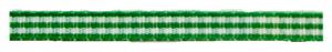 Groen geruit lint, 5mm
