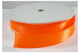 Oranje neon satijnlint,15mm