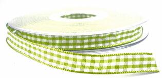 Geruit lint groen,10mm