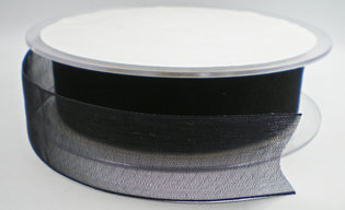 Organza lint zwart 25mm