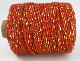 Cotton cord brique/goud