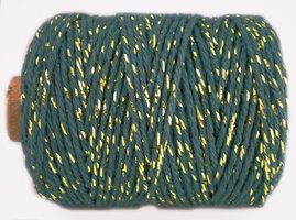 Cotton cord zeeblauw/goud