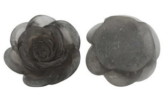 grijze roos cabochons 15mm
