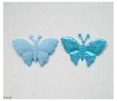 Blauwe vlindertjes, 40 st.