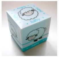 Baby sheep boxes blauw