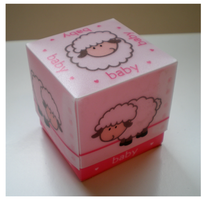 Baby sheep boxes roze