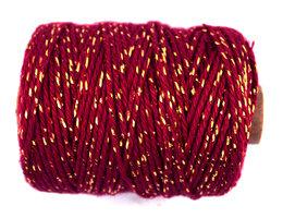 Cotton cord bordeaux/goud