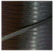 Satijnlint 3mm zwart