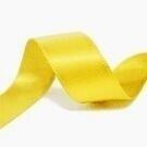 16 mm geel satijnlint