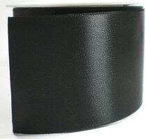 Satijnlint breed zwart 70mm