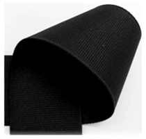 10 mm Zwart grosgrain
