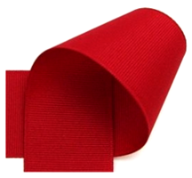 Grosgrain 10mm rood