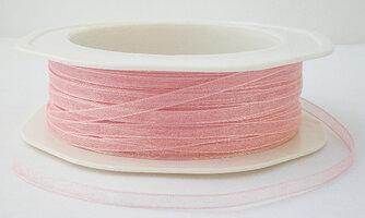 3 mm licht roze organza lint