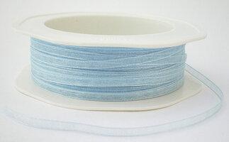 3 mm licht blauw organza lint
