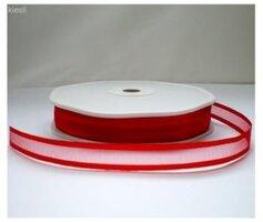 Organza|satijn lint rood