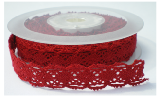 Rood folk lace,cotton kant