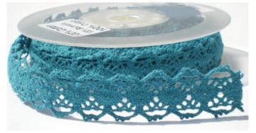 blauw folk lace,cotton kant