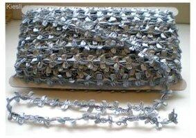 Grijs/zilver sierband,48.6 mtr