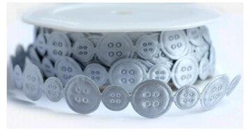 Knoopjes bandje grijs/zilver
