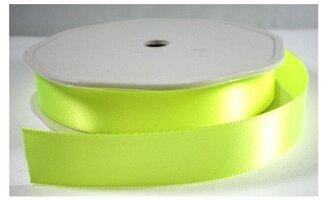 Neon geel satijnlint,25 mm