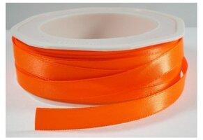 Neon oranje satijnlint,9 mm