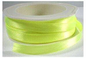 Neon geel satijnlint,9 mm