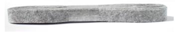 Vilt grijs 15 mm